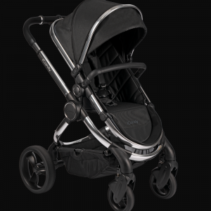 iCandy Peach Pushchair & Carrycot - Chrome Black Twill 7