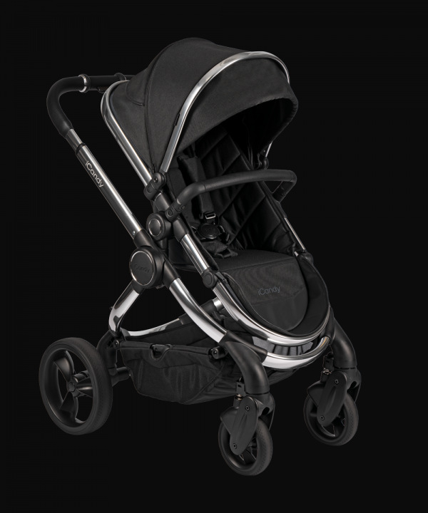 iCandy Peach Pushchair & Carrycot - Chrome Black Twill 1
