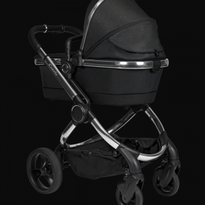 iCandy Peach Pushchair & Carrycot - Chrome Black Twill 8