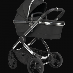 iCandy Peach Pushchair & Carrycot - Chrome Black Twill 9