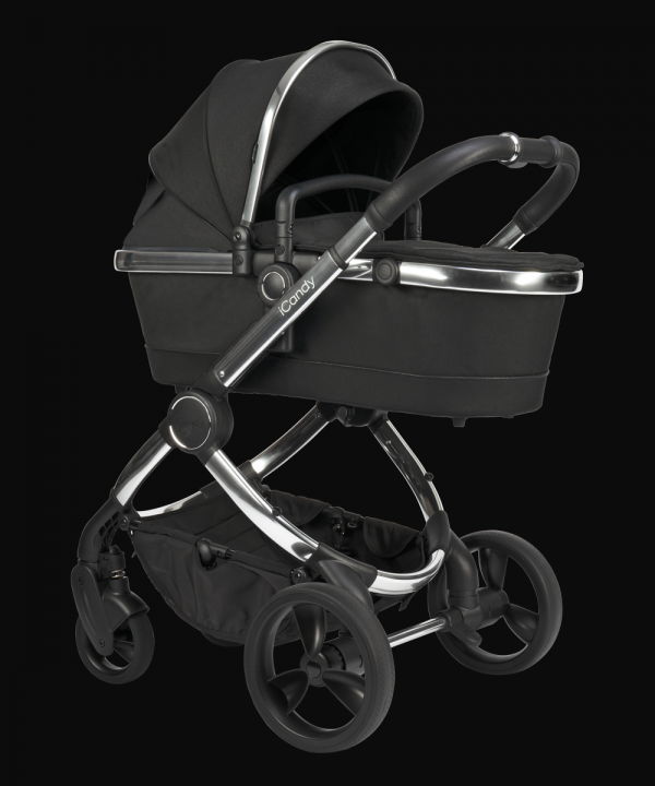 iCandy Peach Pushchair & Carrycot - Chrome Black Twill 3