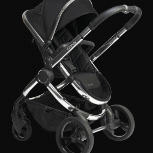 iCandy Peach Pushchair & Carrycot - Chrome Black Twill 10