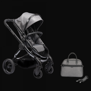iCandy Peach Pushchair & Carrycot with Bag - Phantom Grey Twill 7