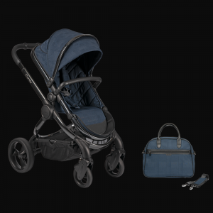 iCandy Peach Pushchair & Carrycot with Bag - Phantom Navy Check 7