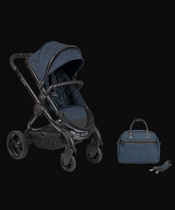 iCandy Peach Pushchair & Carrycot with Bag - Phantom Navy Check 1