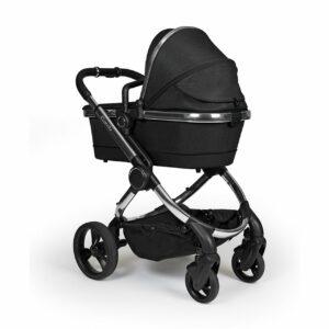 iCandy Peach Pushchair & Carrycot - Chrome Black Twill 8