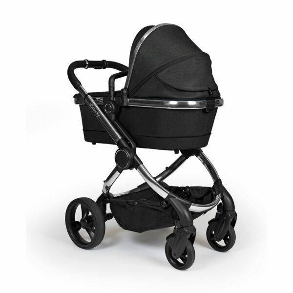 iCandy Peach Pushchair & Carrycot - Chrome Black Twill 1