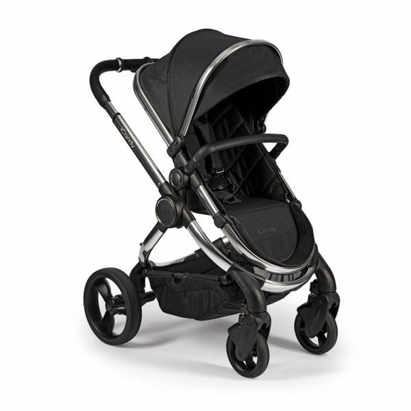iCandy Peach Pushchair & Carrycot - Chrome Black Twill 6