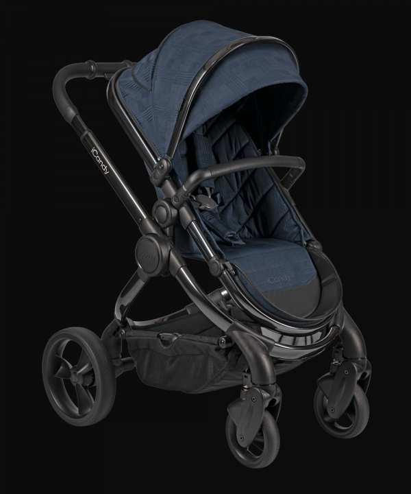 iCandy Peach Pushchair & Carrycot - Phantom Navy Check 1