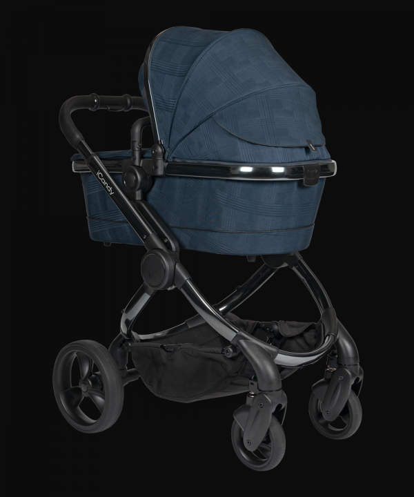 iCandy Peach Pushchair & Carrycot with Bag - Phantom Navy Check 3