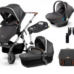 Silver Cross Wave Car Seat, ISOFIX Base & Changing Bag Bundle - Granite 12