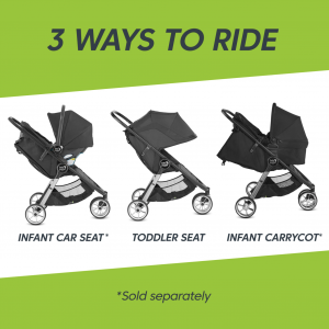 Baby Jogger City Mini 2 - 3 Wheel - Jet 10