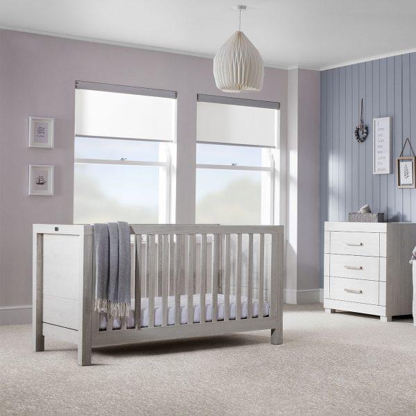 Silver Cross Coastline Cot Bed & Dresser 2