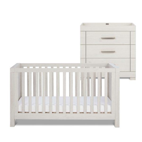 Silver Cross Coastline Cot Bed & Dresser 1