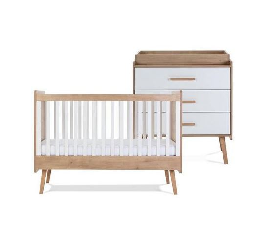 Silver Cross Westport Cot Bed & Dresser 1
