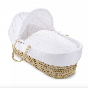 white dimple Moses basket