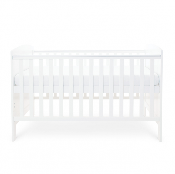 Ickle Bubba Coleby Cot Bed - White 2