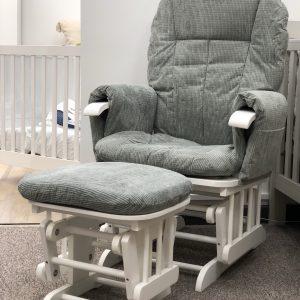 Mini Uno Glider Chair & Footstool 5