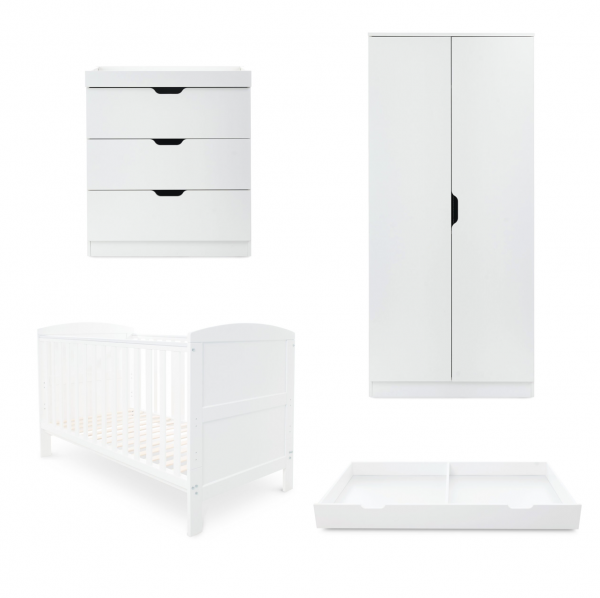 ickle bubba babyhood Coleby classic 4 piece furniture set white
