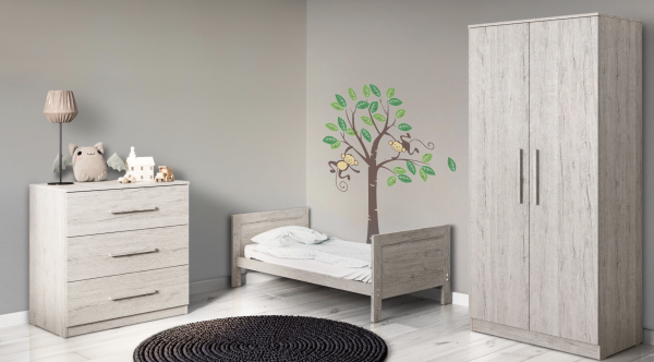 Ickle Bubba Grantham 3pc Room Set - Grey Oak 1