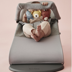 BabyBjorn Bouncer Bliss Bundle with Toy - Light Grey 3D Jersey 4