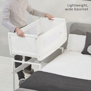 SnuzPod 3 Bedside Crib - White 12