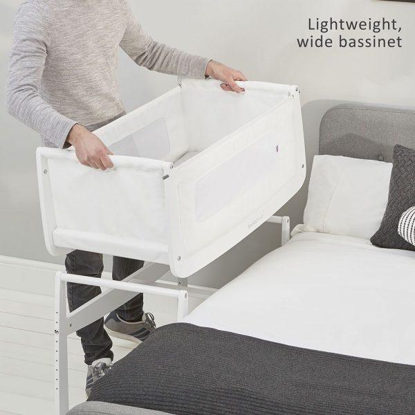 SnuzPod 3 Bedside Crib - White 5