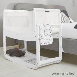 SnuzPod 3 Bedside Crib - White 13
