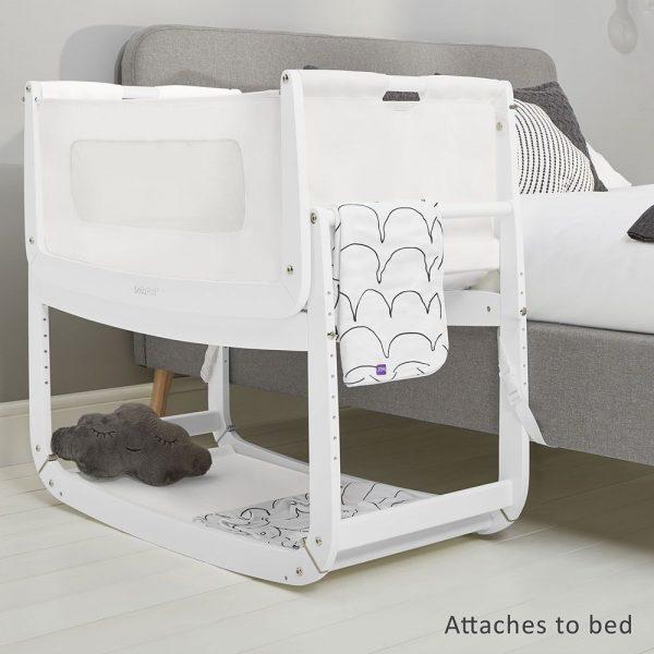 SnuzPod 3 Bedside Crib - White 6