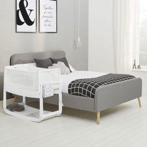 SnuzPod 3 Bedside Crib - White 14