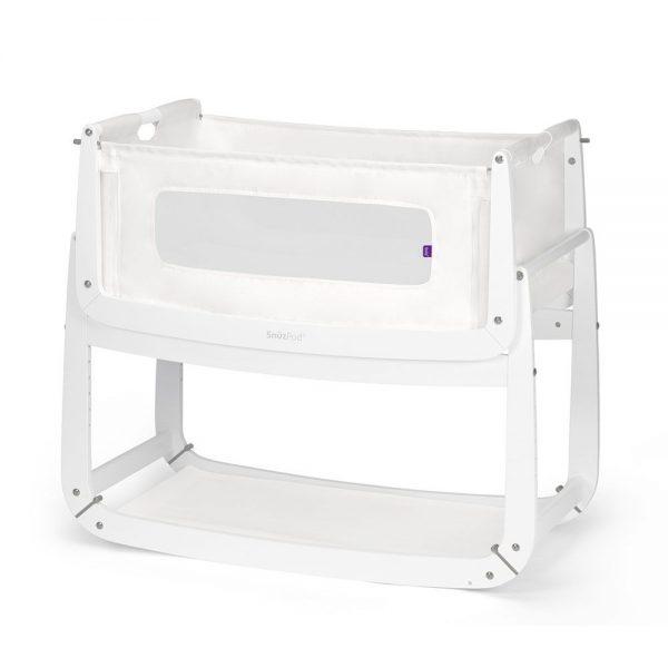 SnuzPod 3 Bedside Crib - White 1
