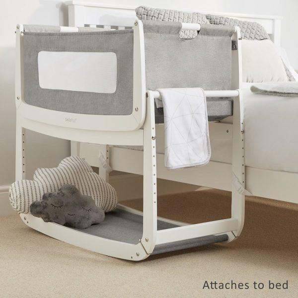 SnuzPod 3 Bedside Crib Bundle - Dusk 6