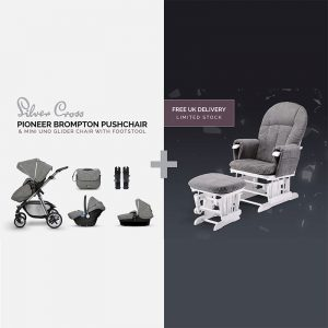 babycare brompton pioneer glider chair bundle