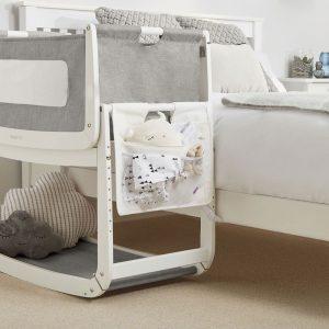 SnuzPod 3 Bedside Crib Bundle - White 18