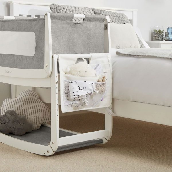 SnuzPod 3 Bedside Crib Bundle - White 9