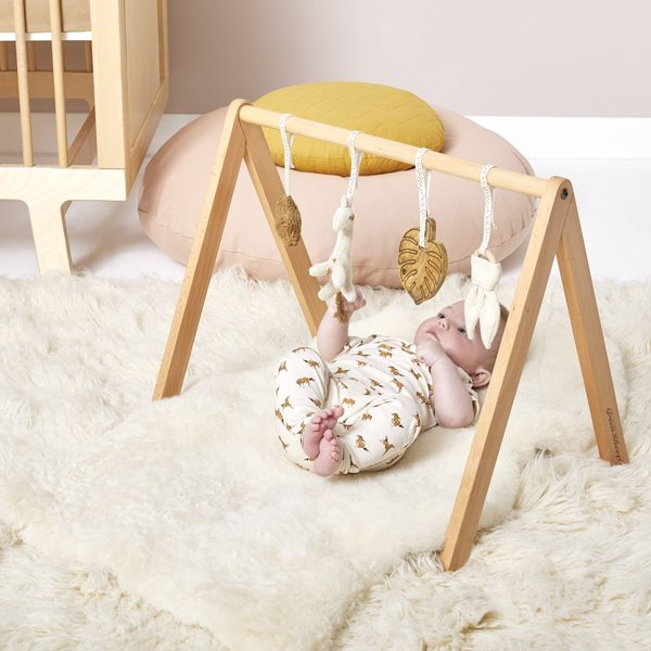 Little Green Sheep Wooden Baby Play Gym - Safari Giraffe 1