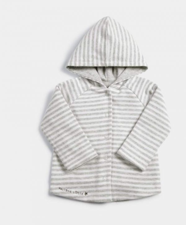 Mamas & Papas Striped Reversible Hoody 1