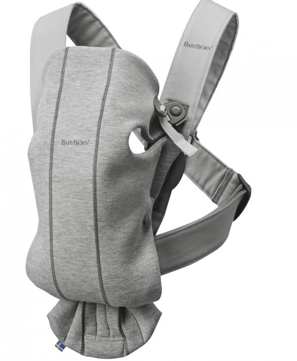 Baby Björn Mini - Light Grey 3D Jersey 1
