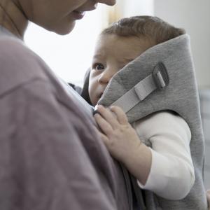 Baby Björn Mini - Light Grey 3D Jersey 10