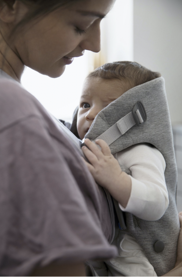 Baby Björn Mini - Light Grey 3D Jersey 5
