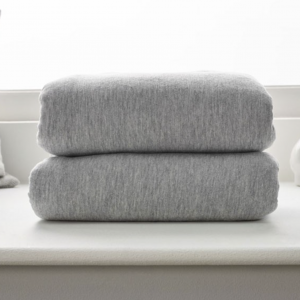 Clair De Lune Cot Bed Fitted Sheets 2 Pack - Grey Marl 4