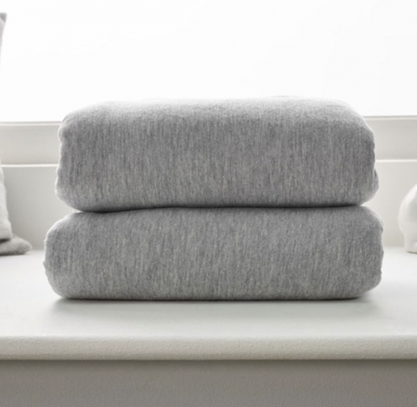 Clair De Lune Cot Bed Fitted Sheets 2 Pack - Grey Marl 1