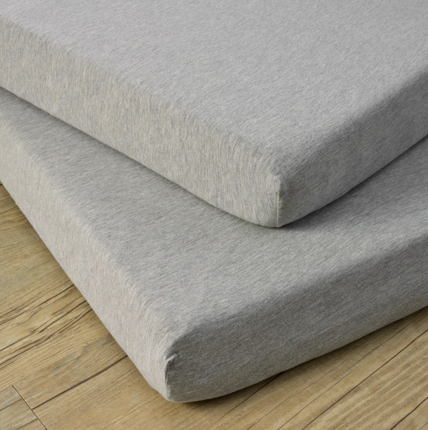 Clair De Lune Cot Bed Fitted Sheets 2 Pack - Grey Marl 2