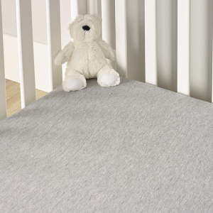 Clair De Lune Cot Bed Fitted Sheets 2 Pack - Grey Marl 6