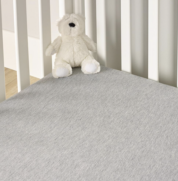 Clair De Lune Cot Bed Fitted Sheets 2 Pack - Grey Marl 3