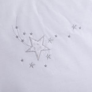 Clair De Lune Starburst Cot/ Cot Bed Quilt & Bumper - White 4