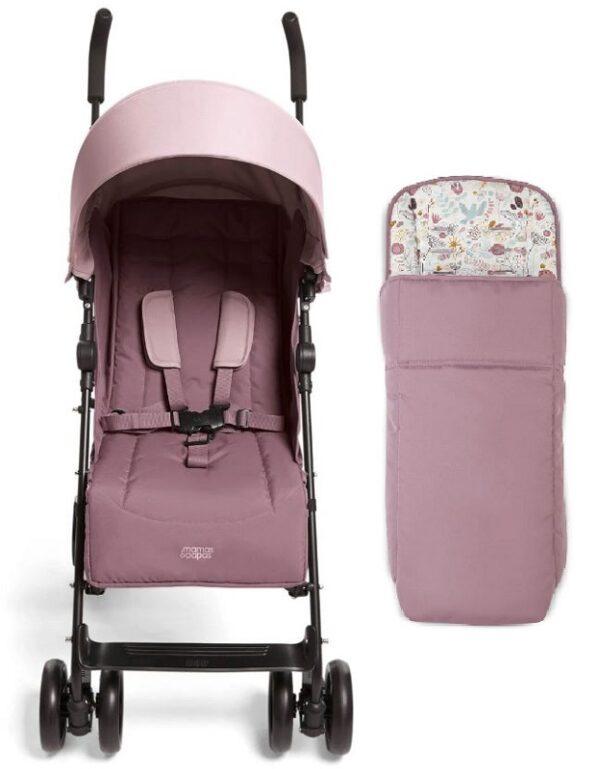 Mamas & Papas Cruise Stroller - Grape and Floral Footmuff 1