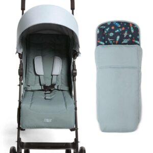 Mamas & Papas Cruise Stroller - Mint and Rocketman Footmuff 8