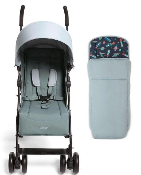 Mamas & Papas Cruise Stroller - Mint and Rocketman Footmuff 1