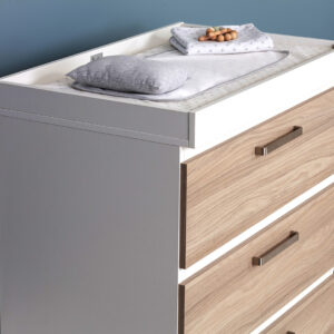 Silver Cross Finchley Cot Bed & Dresser 10